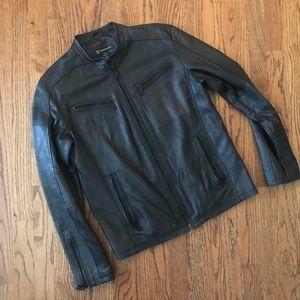 Lightweight leather Motorcycle jacket I-N-C